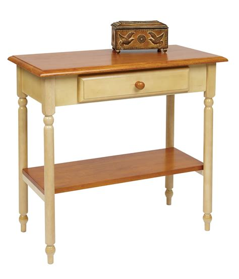 Entrance Console Table Wood Country Buttermilk Cherry Finish Foyer Entry Console Accent Table Tables