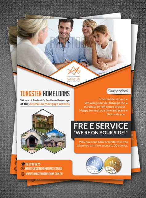 real estate flyer design for tungsten home loans by esolz