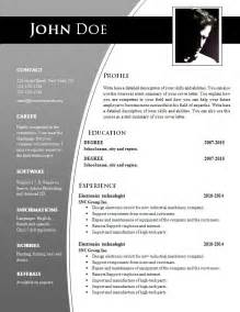 Documents Resume Template by Cv Templates For Word Doc 632 638 Free Cv Template