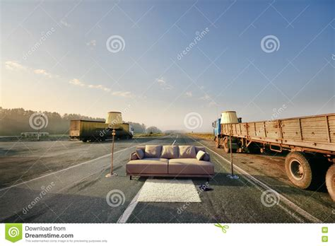 roadside couch sofa on the road royalty free stock images image 30921459