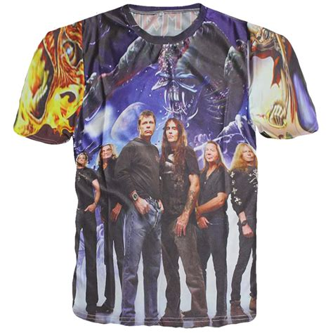 Tshirt Iron Maiden 2 new style 3d rock band t shirt iron maiden classic graphic print tees cool tshirt
