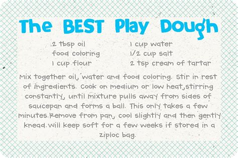 printable playdough recipes the best homemade play dough recipe picture tutorial