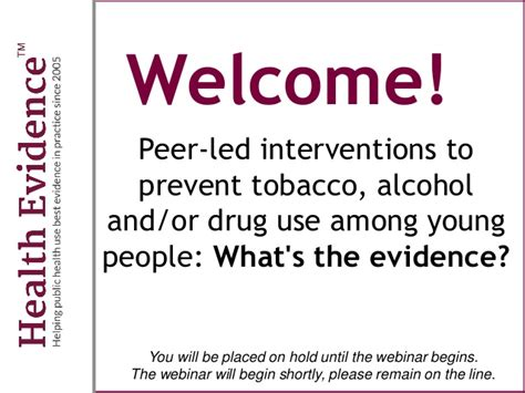 le d intervention peer led interventions to prevent tobacco and or use am
