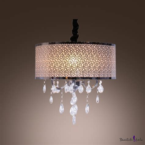 Drum Style Chandelier Shades Majestic Black Drum Shade Contemporary Style Accented Chandelier Beautifulhalo
