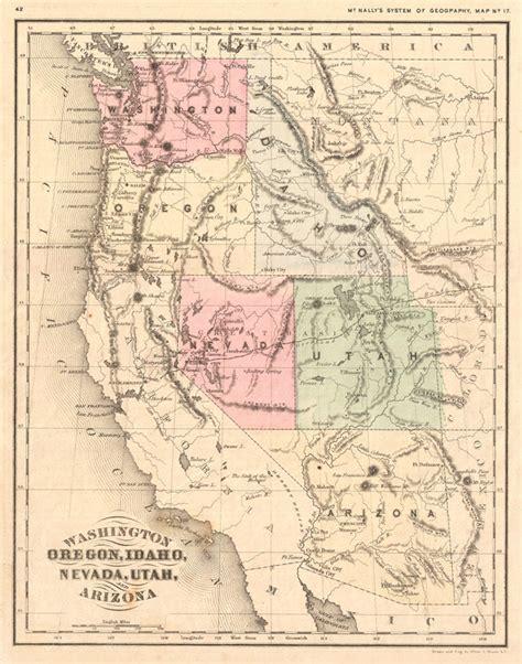 map of oregon idaho and utah washington oregon idaho nevada utah and arizona