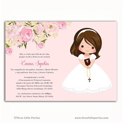 invitacion de primera comunion dibujo invitacion primera comuni 243 n printable floral by