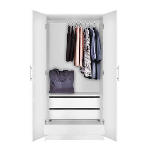 Alta Wardrobe by Alta Wardrobe Cabinet 3 Interior Drawers Contempo Space