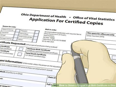 Ohio Vital Records Birth Certificate 4 Ways To Obtain A Copy Of Your Birth Certificate In Ohio
