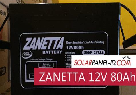 Harga Aki Rca Batt jual aki kering panel surya zanetta 12v 80ah distributor