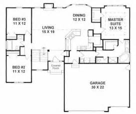 Ranch Floor Plans With Split Bedrooms by Plan 1602 3 Split Bedroom Ranch W Walk In Pantry