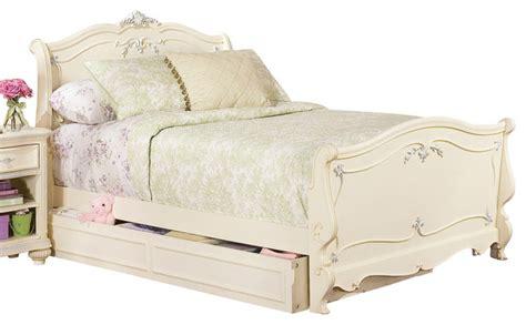 kids queen bed lea jessica mcclintock sleigh bed in antique white queen