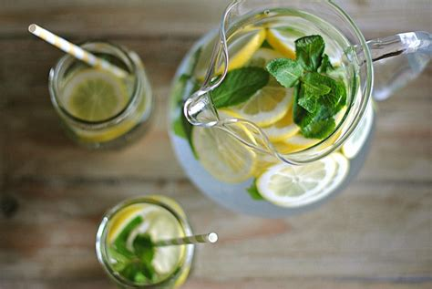 Lemon And Cucumber Detox Water Reviews by Lemon Water With Fresh Mint Eat Yourself