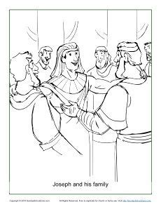 coloring pages joseph forgives his brothers joseph and his family coloring page b2 joseph forgives