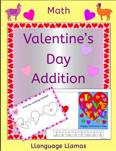 math valentines day cards s addition and subtraction by uk teaching