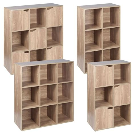 Wood Cube Shelf by 6 9 Cube Oak Modular Bookcase Shelving Display Shelf