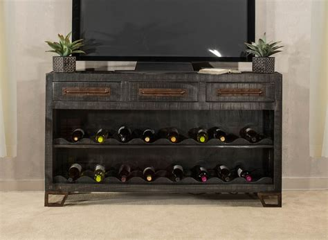 wine rack sofa table hillsdale bridgewater sofa table with wine rack black