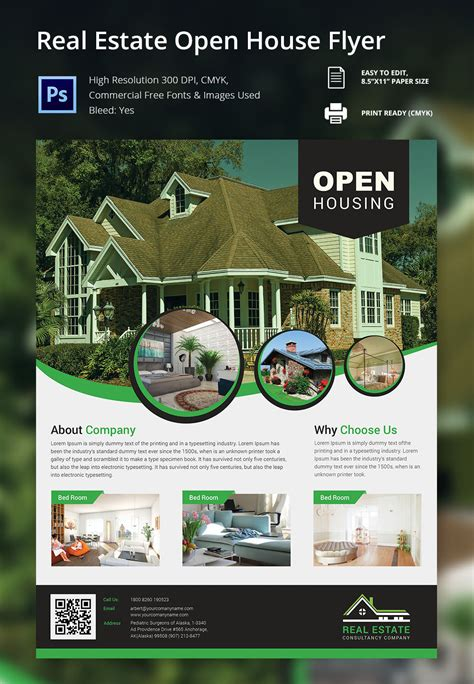 real homes template open house flyer template 30 free psd format