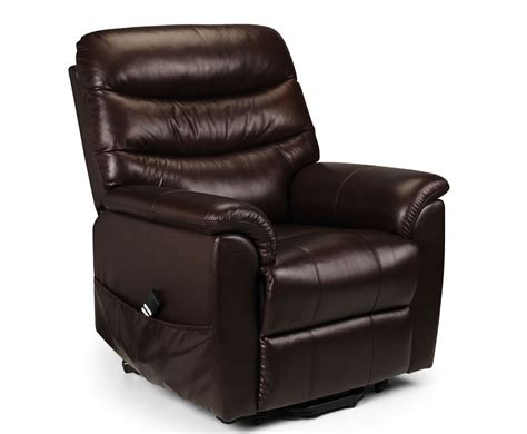 rise recliner chairs uk harlow brown bonded leather rise recliner chair chestnut