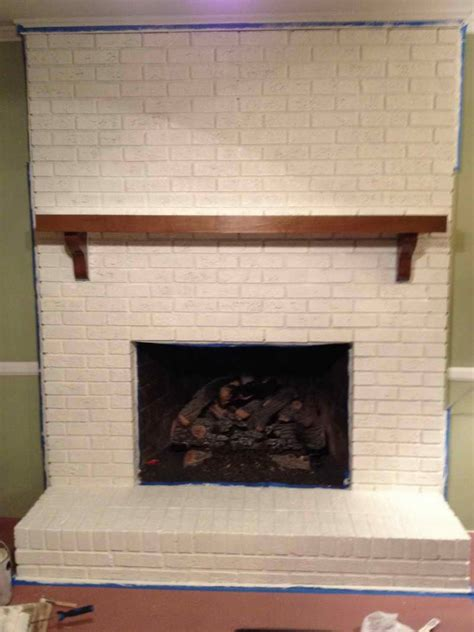 Brick Fireplaces Ideas by Planning Ideas Simple Painting Brick Fireplace Ideas