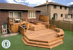 Split Level Front Porch Designs this three level clear cedar deck gives lots of room for
