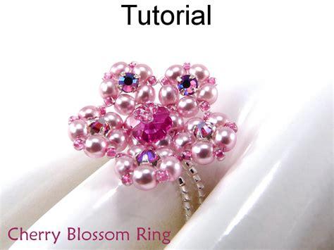 beaded ring tutorial free beading tutorial pattern ring stretch flower