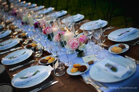 how to set wedding table rustic summer outdoor wedding reception in tuscany lucca