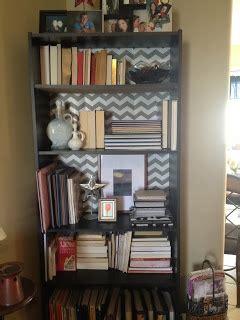 chevron contact paper bookshelf classroom ideas