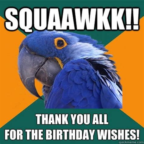 Birthday Thanks Meme - thank you for the birthday wishes with memes and images 2018