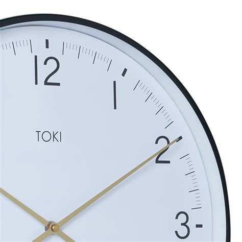 buy luca white 40cm silent wall clock online purely wall clocks buy toki mina white silent sweep wall clock with date 40cm