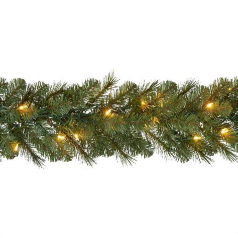 9 ft pre lit led wesley pine garland x 170 tips with 60