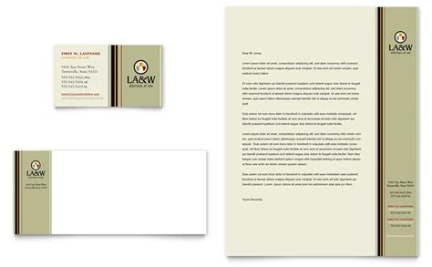 Firm Letterhead Design Lawyer Firm Business Card Letterhead Template Design