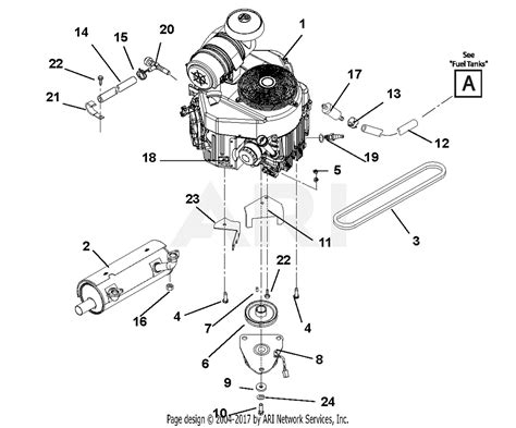 gravely    carb compact pro  kawasaki  mower deck parts diagram
