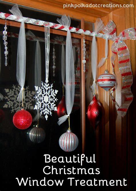 Dekorierte Fenster Weihnachten by Window Treatments Pink Polka Dot Creations