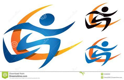 Emblem Logo Running running logo stock photo image 34888380