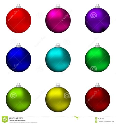 closeup of red christmas balls on colored background