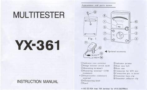 Multitester Sunwa Yx 360 ม ลต ม เตอร sunwa ร น yx 360 yx361 เท ยม 697568