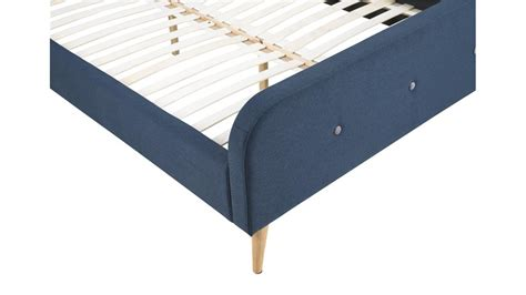 bettgestell mit stoff beziehen bett agnes bettgestell bezug stoff dunkelblau 140x200 cm