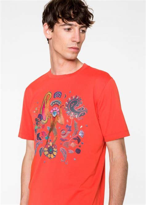 Print T Shirt Mens by T Shirts Paul Smith Slim Fit Monkey Print T Shirt Mens Daniel Herran