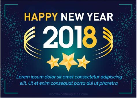 new year greeting word in 10 beautiful design new year greeting cards 2018 word