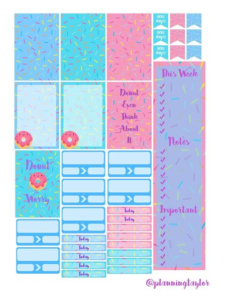mambi planner free printable free printable mambi happy planner donuts planners