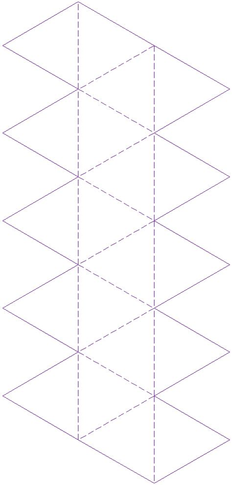 icosahedron net template