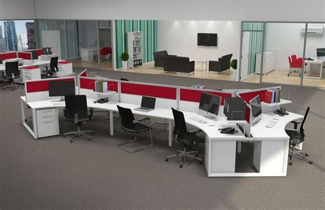 contemporary office workstations for open space