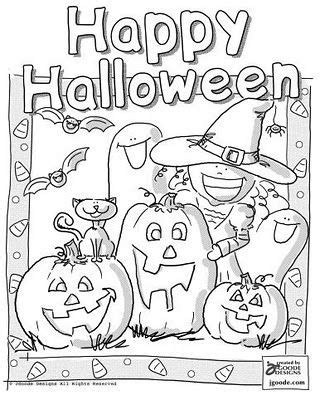halloween coloring pages 3rd grade happy halloween coloring pages witch bat cat ghost pumpkin