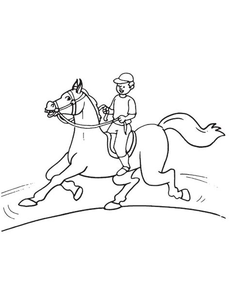 coloring page horse running running horse coloring page