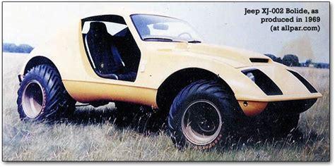 jeep sports car concept 1969 1970 bolide jeep xj 002 concept car