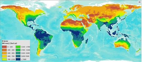 global map asia global erosivity map shows differences between climatic