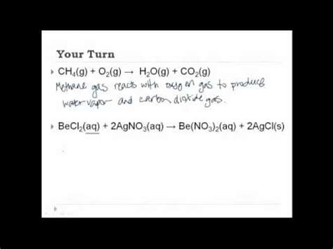 writing chemical equations youtube