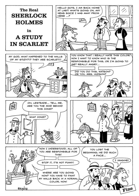 Brunez Comics: The real Sherlock Holmes - A study in scarlet