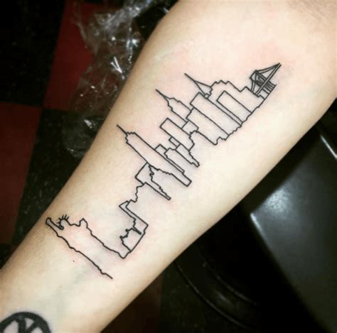 skyline tattoos chicago flag skyline 45482 baidata