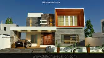 3d front elevation com new 1 kanal contemporary house
